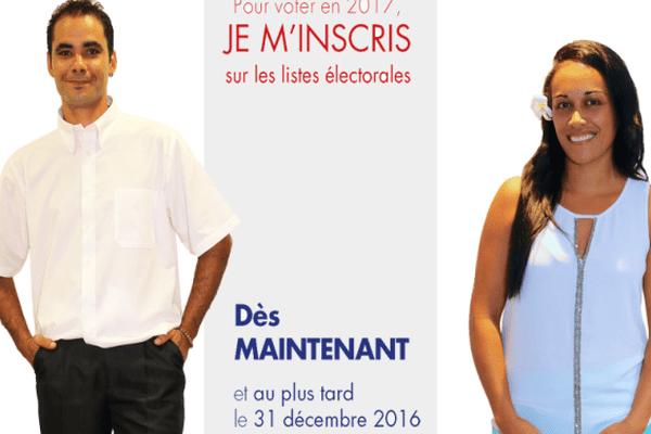 Date limite des inscriptions sur les listes électorales : le 31 décembre 2016