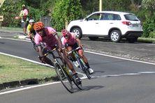 Coureurs cyclistes en Martinique.