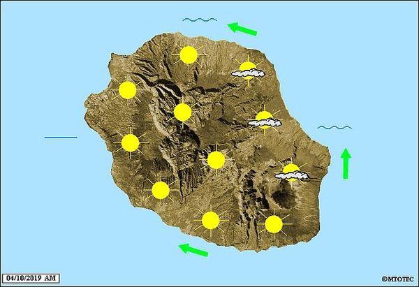 Carte météo 4 octobre 2019