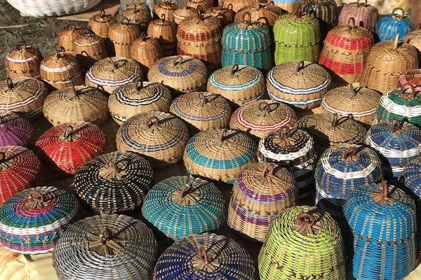 Des paniers fabriqués par les femmes palikur