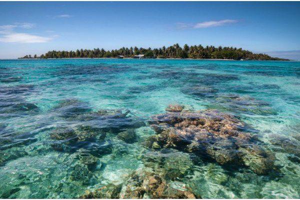 L'atoll Toau dans l'archipel des Tuamotu (Polynésie)