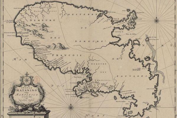 carte de la Martinique (1600-1699)