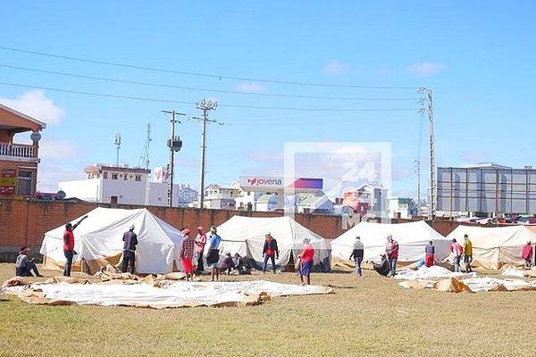 Camp pour accueillir les sinistrés des 67 ha juin 2020