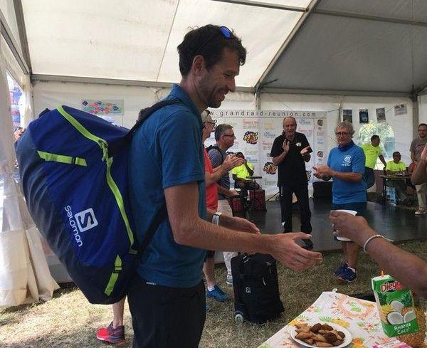 Grand Raid 2018 : arrivée de François D'Haene 141018