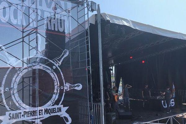 Scène du festival Rock'N Rhum