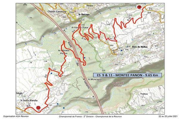 Tour auto 2021 : tracé Montée Panon