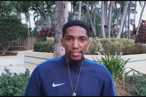 Grégory Lescot défenseur de la sélection de Guyane de Football
