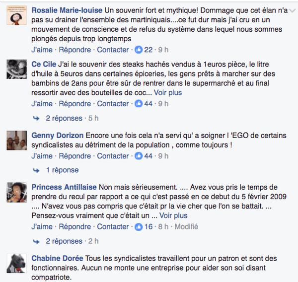 Commentaires sur FB