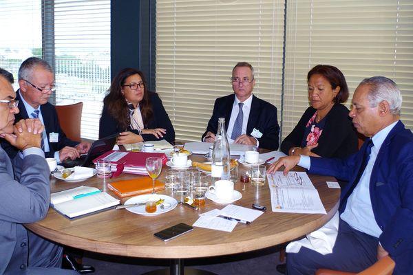 Edouard Fritch rencontre Victorin Lurel pour parler des accords de Papeete