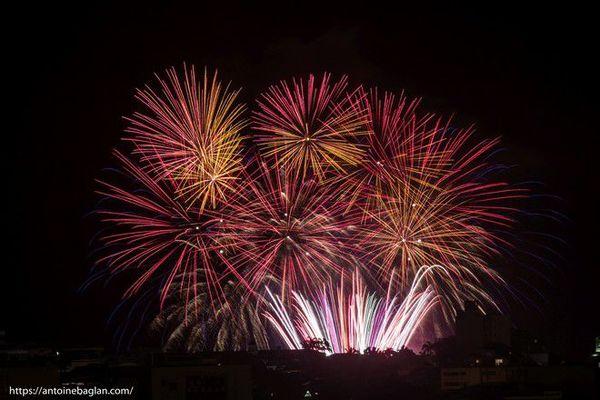 Fête nationale feu d'artifice 14 juillet 2018 Barachois