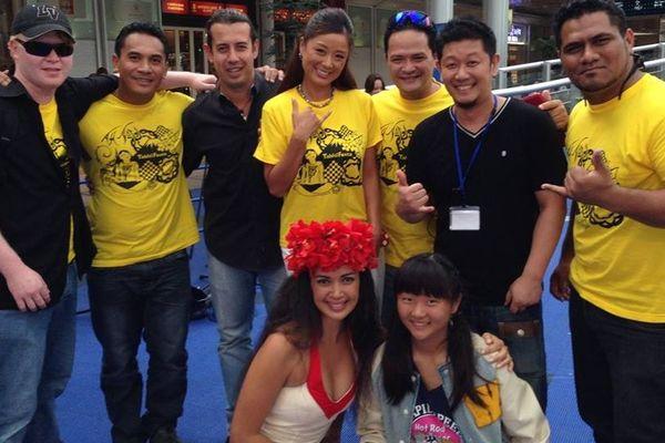 Teiva LC et son groupe au Japon