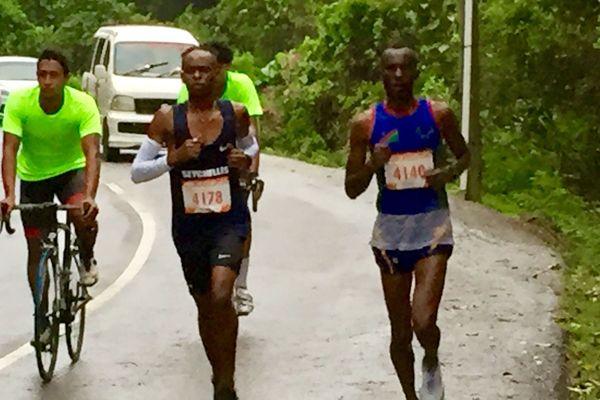 Le Namibien Kadhingula s'impose en 2h47 devant le Kenyan Ndegwa et le Seychellois Geno Belle
