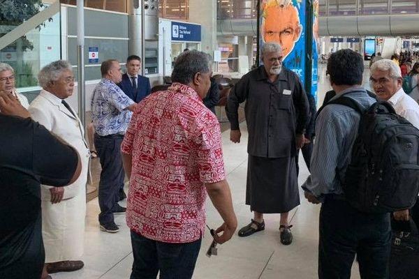 Accueil des  rois de Wallis et Futuna
