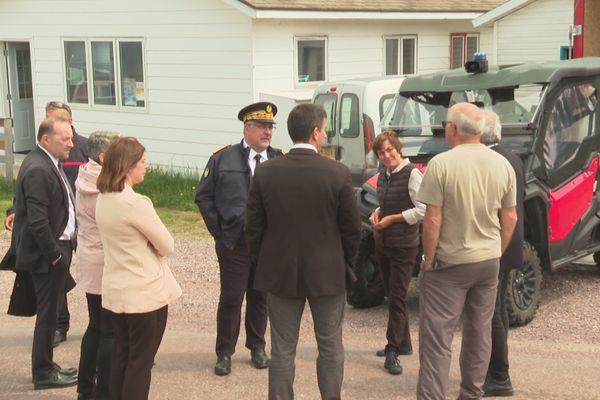 Annick Girardin en visite officielle à Miquelon-Langlade ce mardi 22 juin