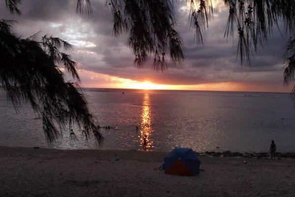 Parasol Réunion sur la plage