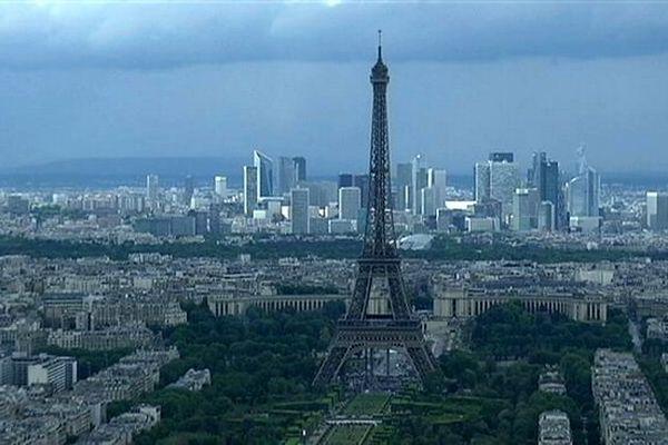 Paris vue aérienne Tour Eiffel