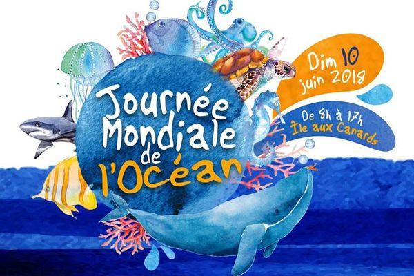 Affiche Journée mondiale de l'océan à l'île aux Canards, 2018