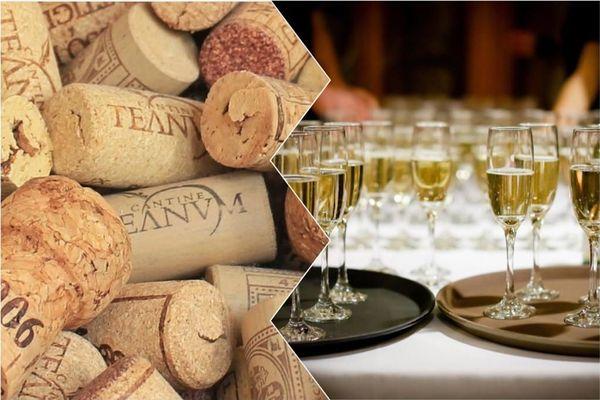 Bouchons et coupes de champagne