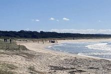 La plage australienne de Tuncurry, dans le New south Wales.