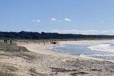 La plage australienne de Tuncurry, dans le New south Wales.