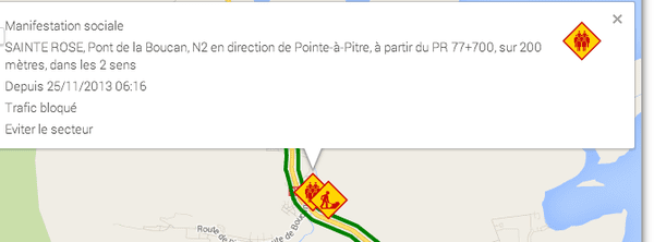 site trafikera - manifestation La Boucan
