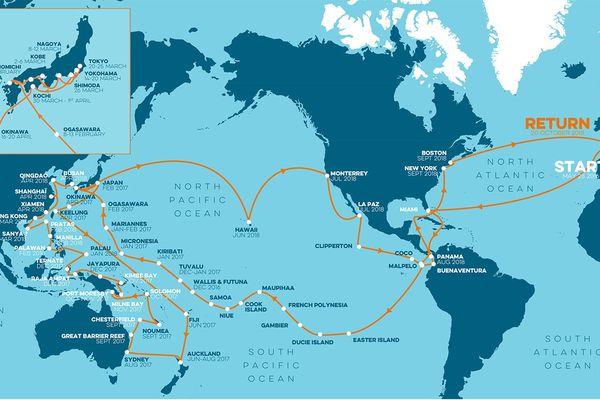 Carte de l'expédition Tara Pacific