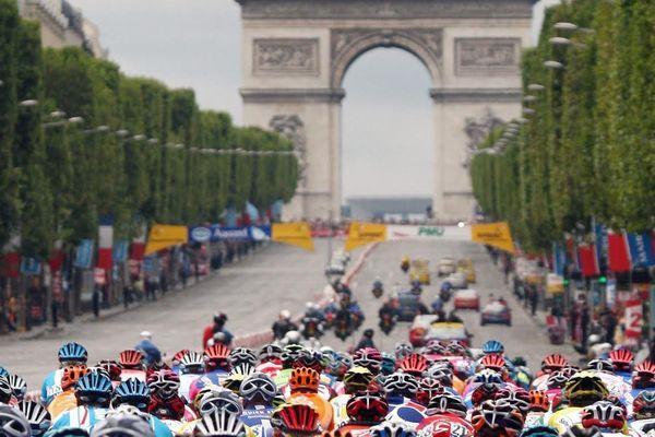 l'arrivée du tour de France