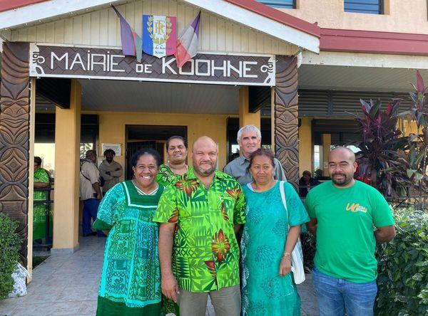 La nouvelle équipe municipale de Koné, 3 juillet 2020