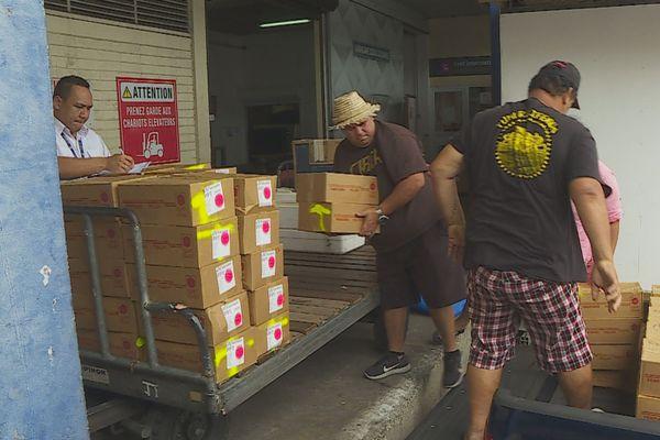 Arrivée de 6 tonnes de letchis acheminés par Air Tahiti