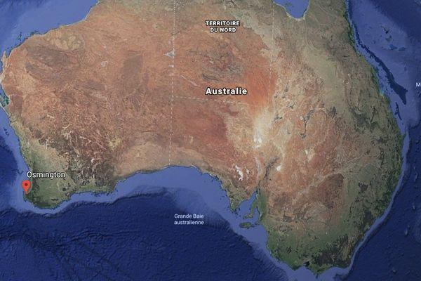 Carte Australie avec Osmington