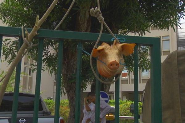 Manifestation éleveurs de porcs