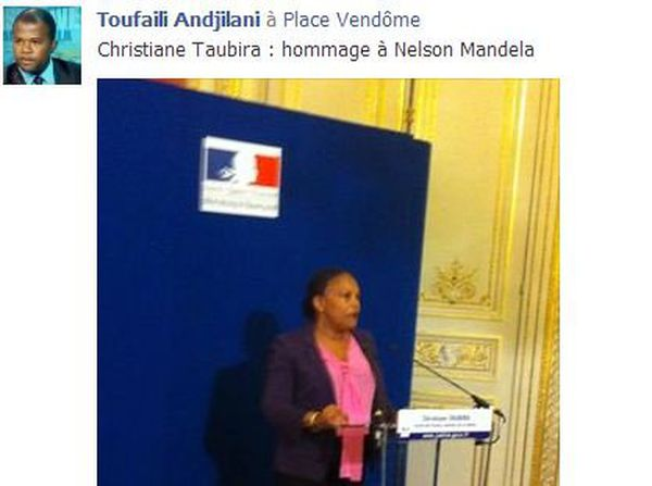 Christiane Taubira rendait hommage à Nelson Mandela vendredi soir à Paris