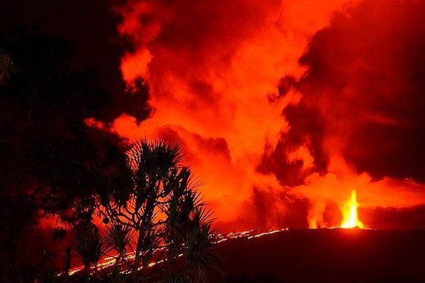 Eruption du piton de la Fournaise mars 2019