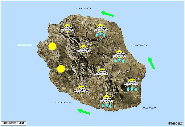Carte météo 10 juin 2021