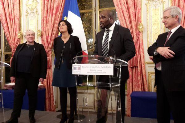 Jean-Marc Mormeck en présence de Claude Bartolone et Myriam El Khomri