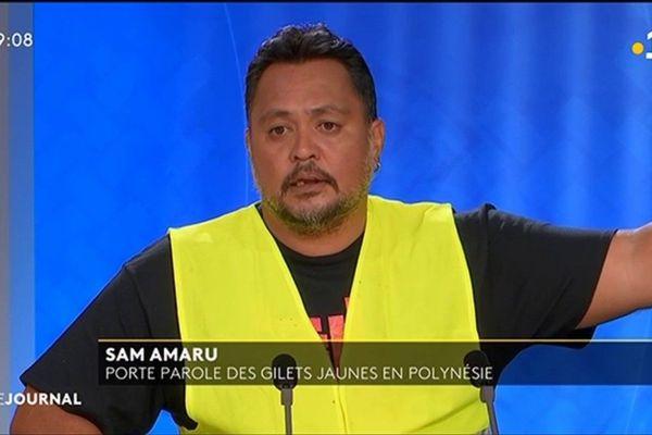 Sam Amaru, porte parole des « gilets jaunes » en Polynésie