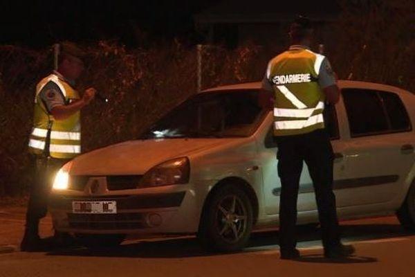 Koné : contrôle routier de nuit (confinemement covid19)