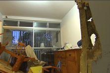 L'état de l'appartement après les scènes de violence à Acajou au Lamentin.