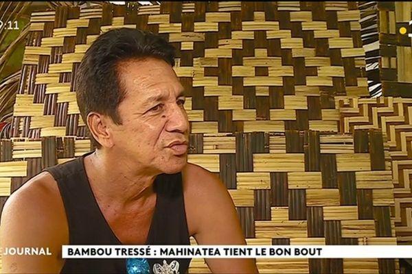 Mahinatea Tata, maître du tressage de bambou