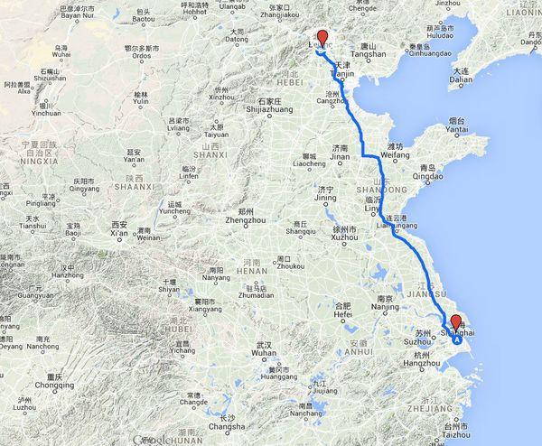 Google maps Chine