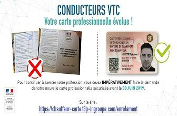 carte VTC NUMERIQUE