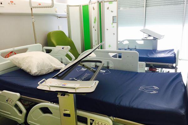 Hôpital de Koné : une chambre avant ouverture, 13 juillet 2018