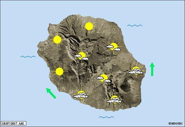 Carte météo 18 juillet 2017