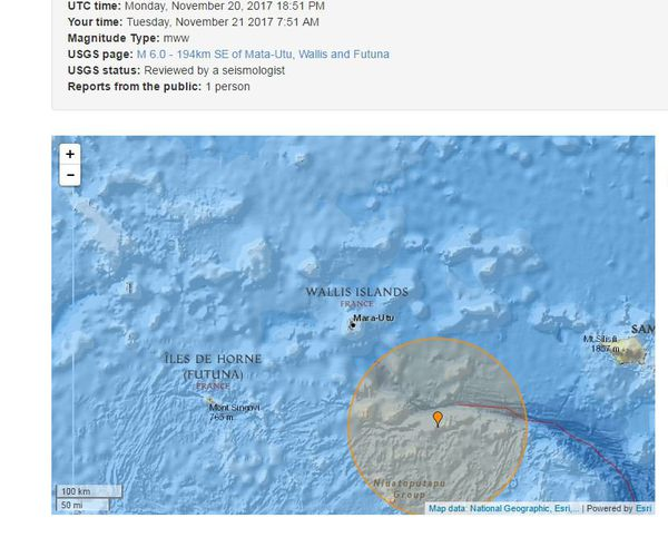 seisme 194km sud est de wallis