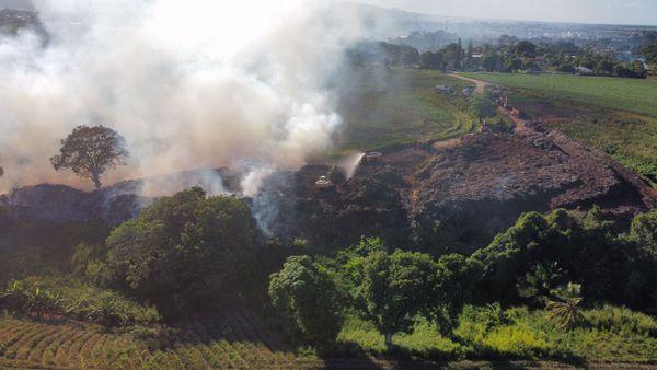 Incendie décharge Dorville/Baie-Mahault