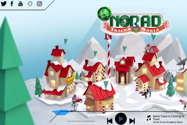 Capture d'écran NORAD