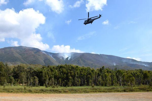 Un Puma engagé contre le feu du Mont-Dore, 3 décembre 2019