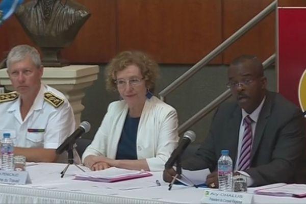 Muriel Pénicaud lors du lé réunion du CREFOP