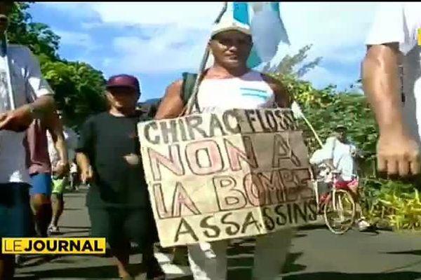 Essais nucléaires : 1995, Papeete s'embrase
