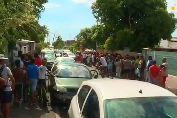 Le choc à la Rivières des Galets et à La Réunion